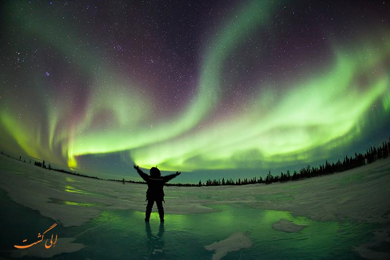 عکس های شفق قطبی در ایسلند