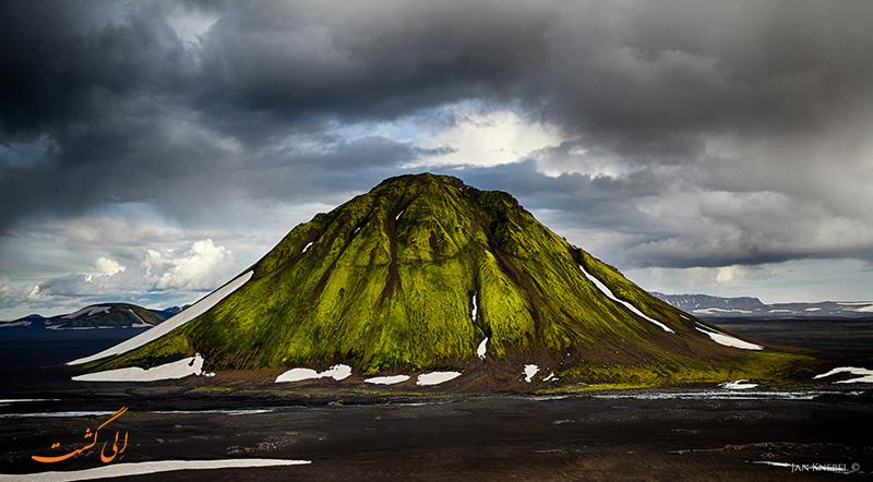 کوه آتشفشانی Maelifell در ایسلند