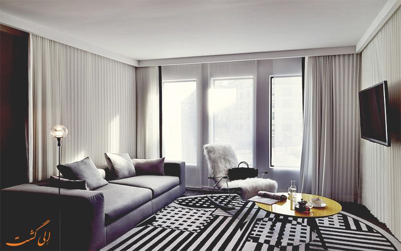 انواع اتاق های هتل مولیتور پاریس