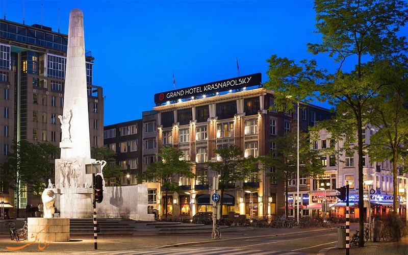 نمای هتل ان اچ گرند آمستردام