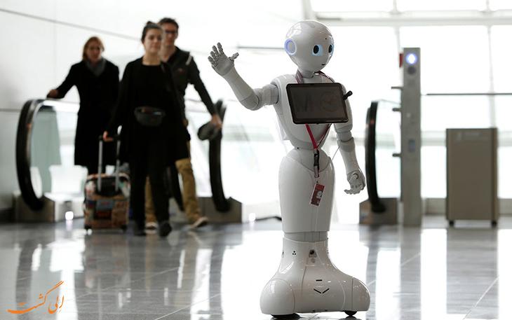 حضور ربات انسان نمای فرودگاه مونیخ