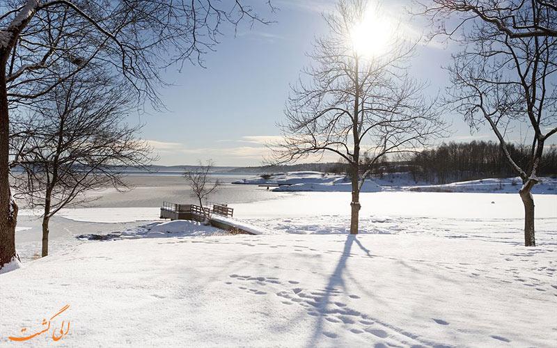 Radisson Blu Park Oslo- eligasht.com اسکله و پارک در زمستان