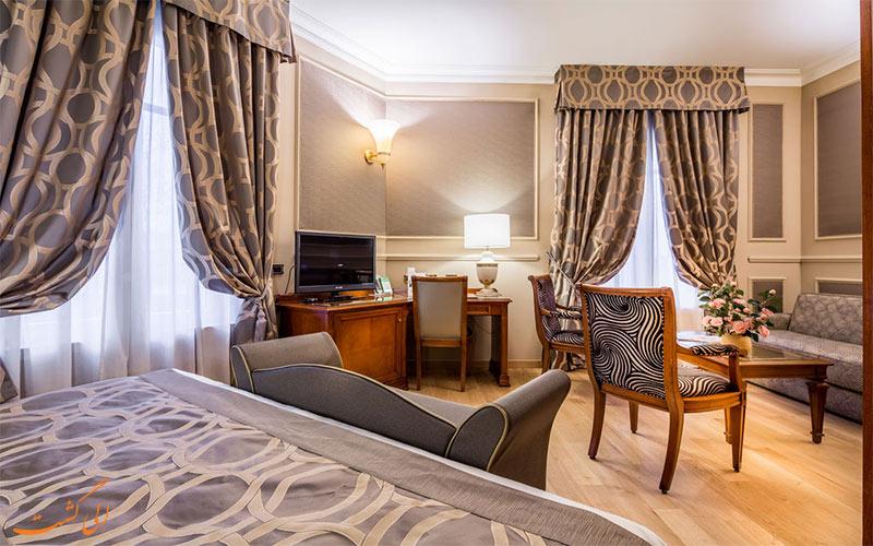 انواع اتاق های هتل گرند ویسکونتی پالاس میلان
