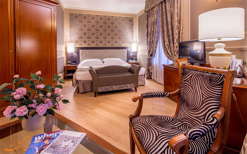 اتاق های هتل گرند ویسکونتی پالاس میلان