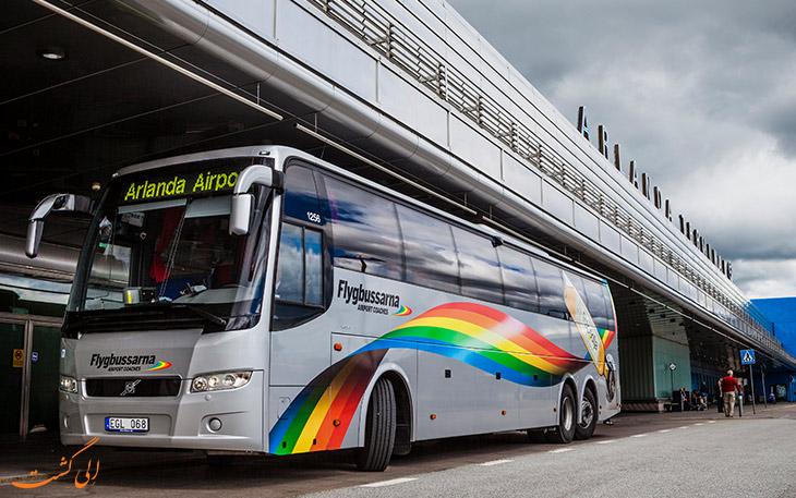 اتوبوس در حمل و نقل فرودگاه آرلاندا