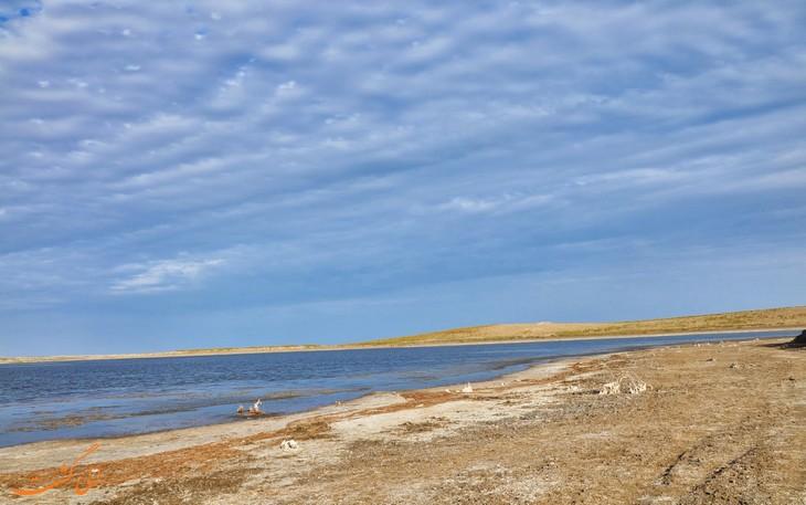 دریاچه آیدار در طبیعت ازبکستان