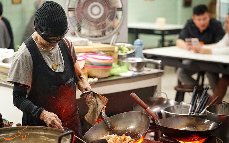 غذاهای رستوران خیابانی جی فای