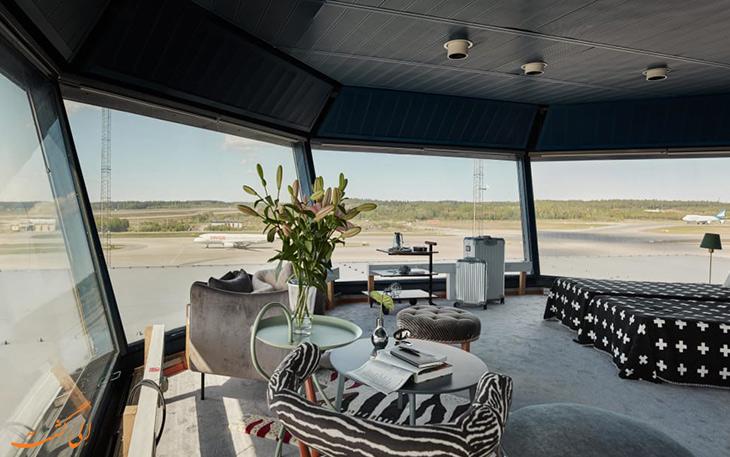 اقامت هتل در برج مراقبت فرودگاه سوئد