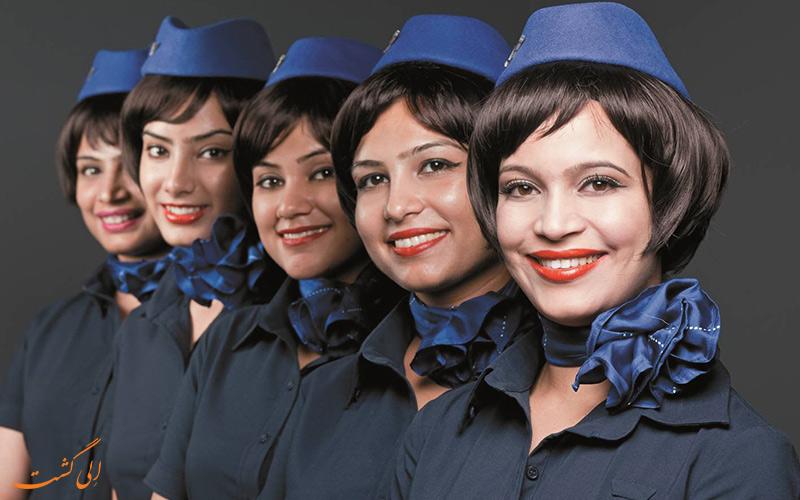 مهمانداران شرکت هواپیمایی ایندیگو-یک مهماندار هواپیما