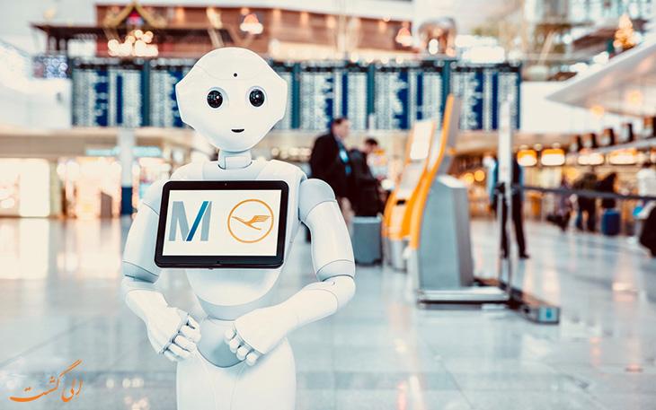 ربات انسان نمای فرودگاه مونیخ با هوش مصنوعی
