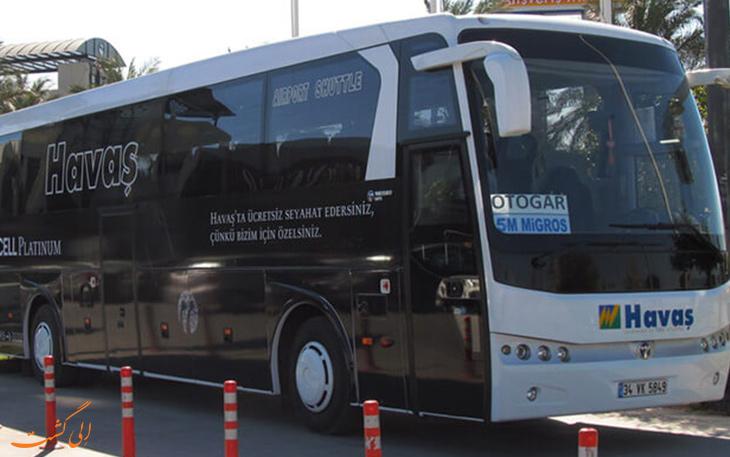 اتوبوس هاواش در حمل و نقل فرودگاه آنتالیا