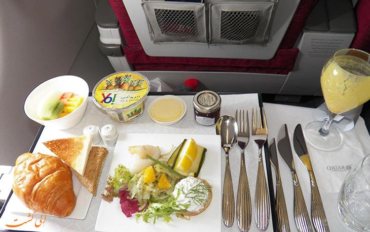 کیترینگ و غذای هواپیمایی قطر ایرویز