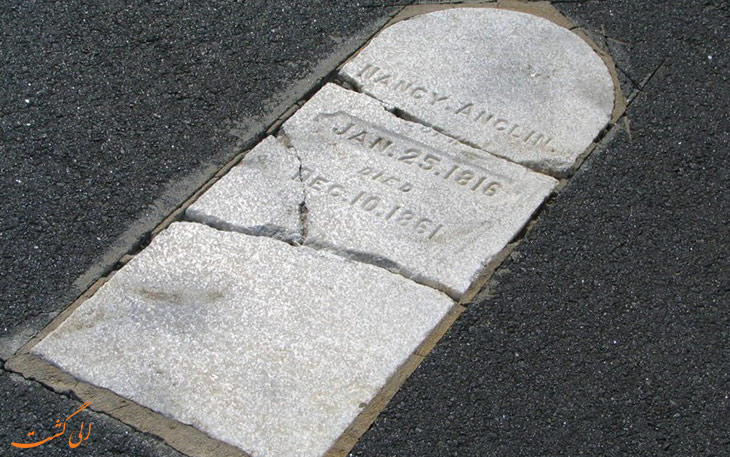 سنگ قبر در باند فرودگاه ماتیس