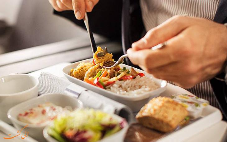 منوی اکونومی غذای هواپیمایی لوفت هانزا