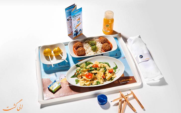 غذای هواپیمایی لوفت هانزا ویژه کودک