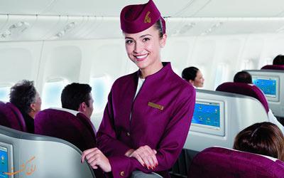 مقایسه پرواز اکونومی هواپیمایی قطر با امارات