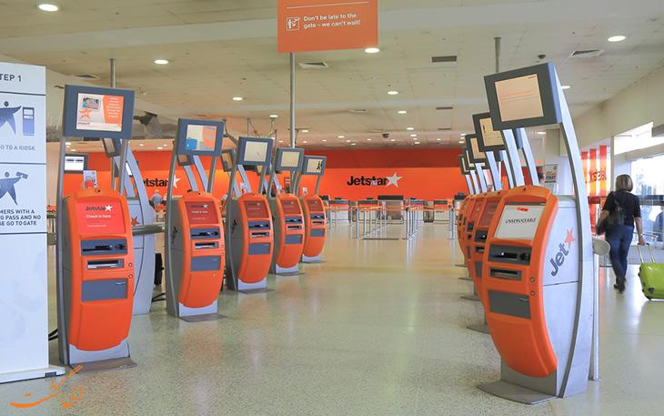 دستگاه چک-این آنلاین فرودگاه