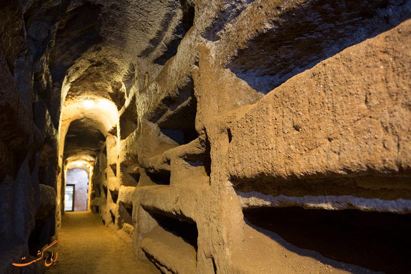 دخمه های جاده آپیان رم