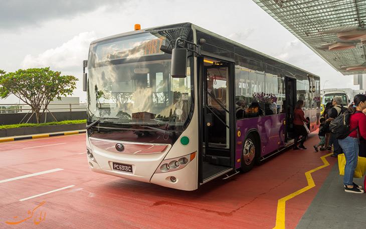 اتوبوس شاتل در حمل  نقل فرودگاه چانگی