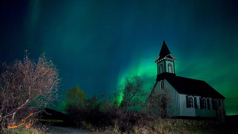 تصاویر شفق قطبی در ایسلند