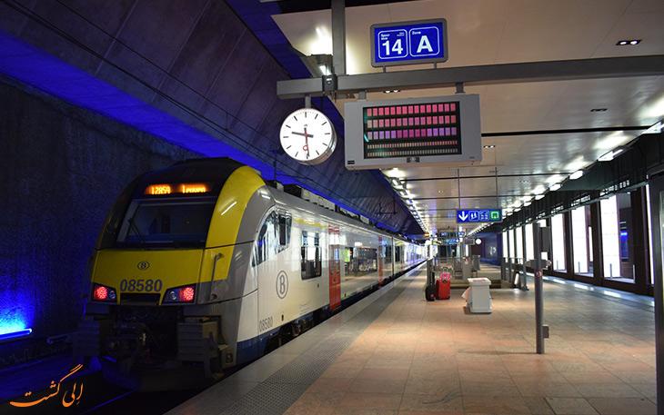 قطار در حمل و نقل فرودگاه بروکسل