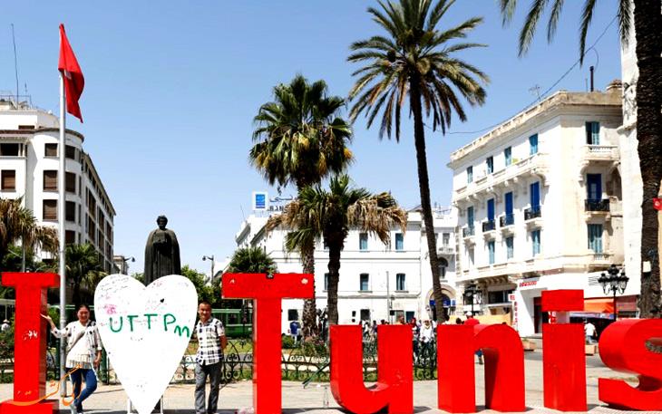 موقعیت جغرافیایی شهر تونس