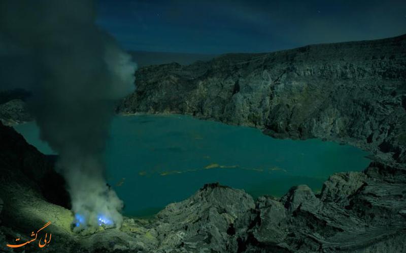 دریاچه آتشفشان آبی