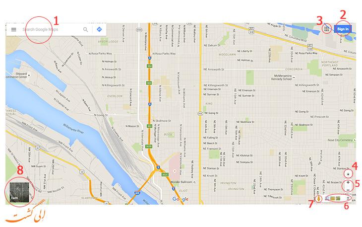 راهنمای استفاده از گوگل مپ