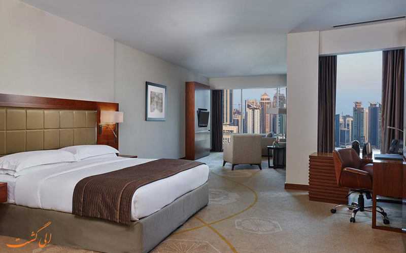 هتل اینترکنتینانتال د سیتی دوحه   نمونه اتاق