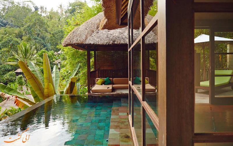 هتل هنگینگ گاردن بالی | استخر خصوصی