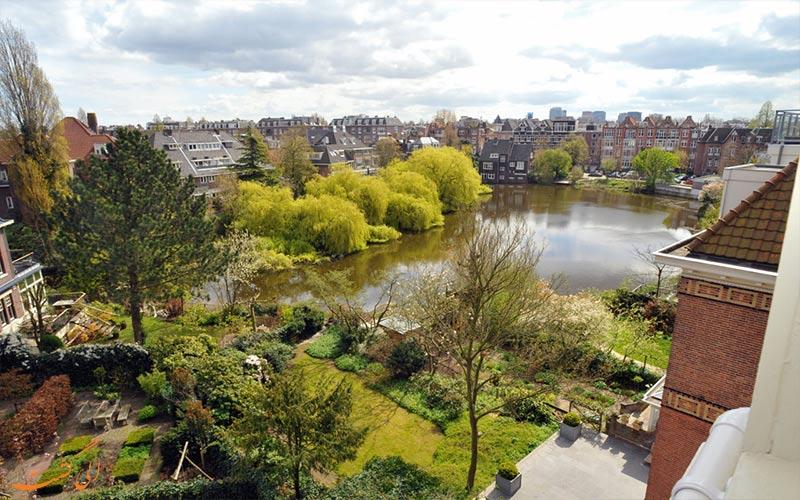هتل سنترال پارک آمستردام Hotel Central Park- نمای رو به پارک
