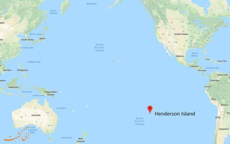 نقشه جزیره هندرسون