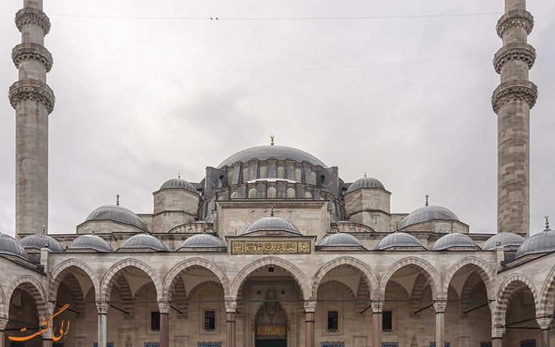 Suleymaniye Mosque four minarets
