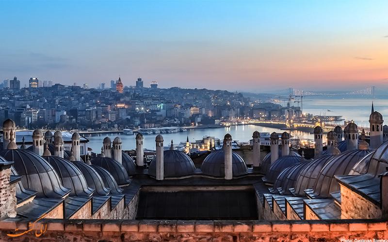 نمای چشم انداز استانبول از مسجد