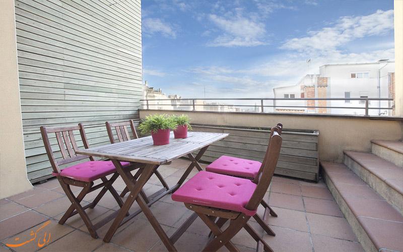 هتل سناتور بارسلونا- تراس اتاق ها
