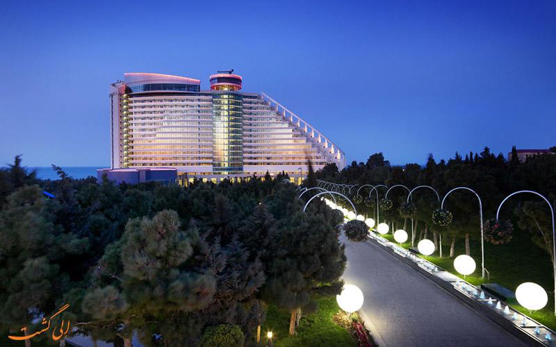 خدمات حمل و نقل هتل بیلگاه بیچ باکو - مسیر ورودی هتل