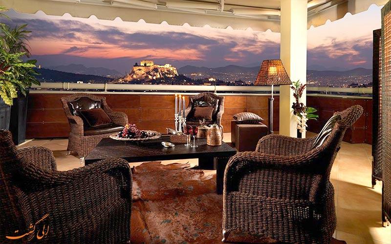 Divani Caravel- eligasht.com تراس هتل