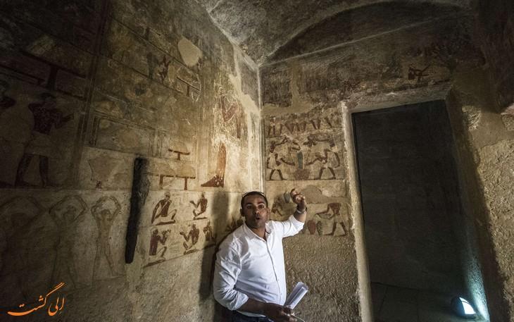 عکس داخل اهرام مصر