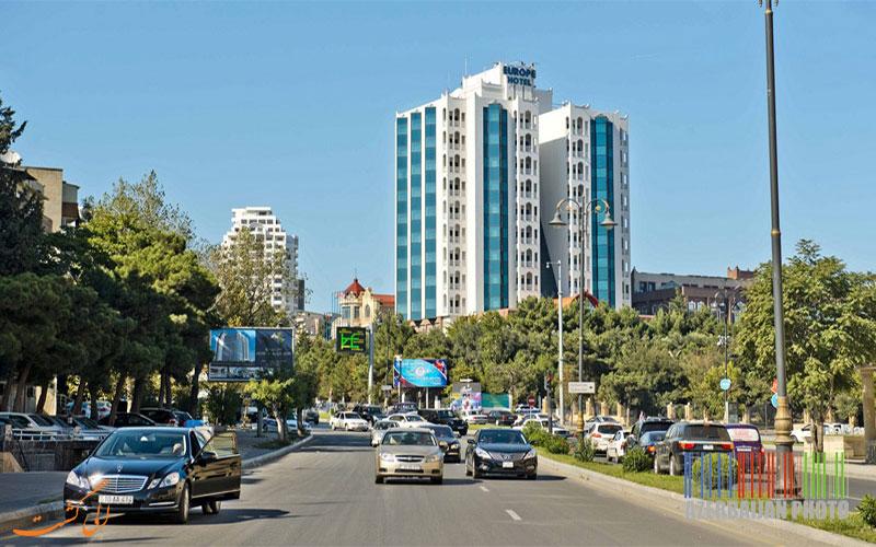 هتل گرند یوروپ باکو- مسیر دسترسی