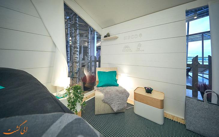 اتاق رایان در فرودگاه هلسینکی