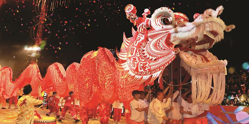رقص اژدها در بهار چینی ها