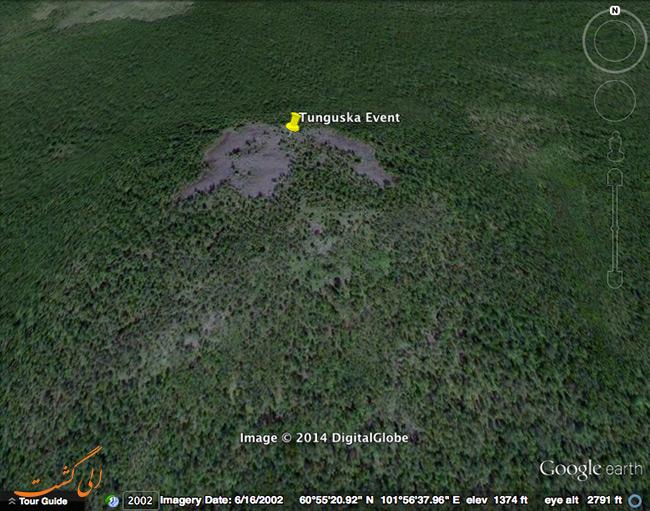 مختصات انفجار تونگوس
