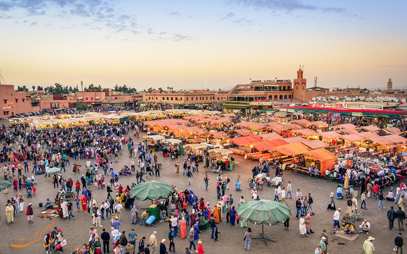 میدان Jemaa el-Fna در مراکش