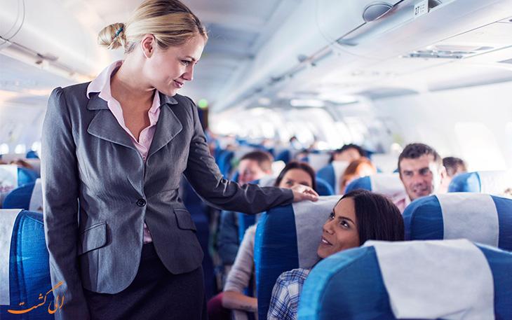 قوانین پرواز در مورد استفاده از دستشویی هواپیما