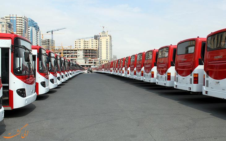 اتوبوس در حمل و نقل فرودگاه باکو