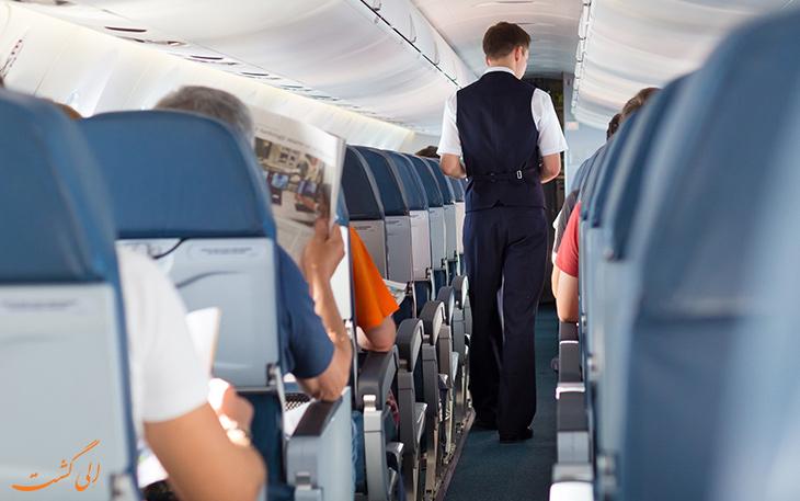 مسافر چاق در هواپیما