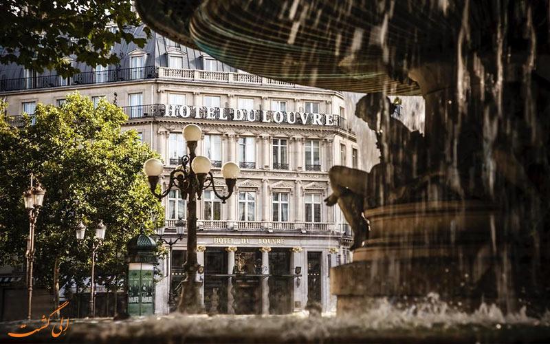 هتل دو لوور پاریس- ورودی هتل