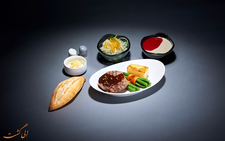 منوی غذای لوفت هانزا در پرواز اکونومی