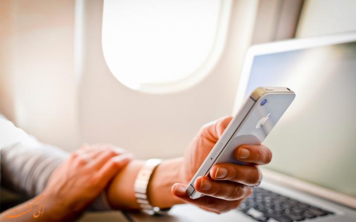 خطر وسایل الکترونیکی در هواپیما