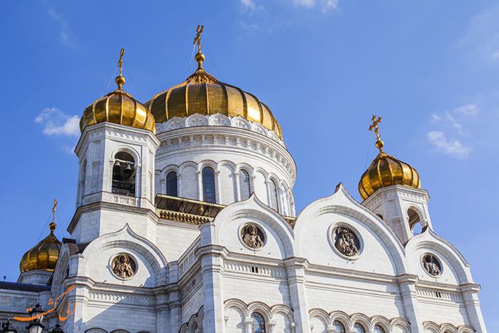 نمای کلیسای مسیح منجی مسکو